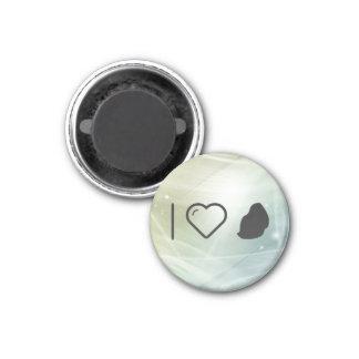 I Love Mauritius 1 Inch Round Magnet