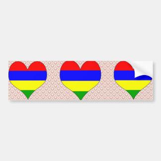 I Love Mauritius Car Bumper Sticker