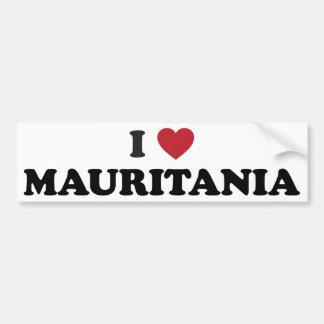 I Love Mauritius Bumper Sticker