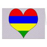 I Love Mauritius Greeting Cards