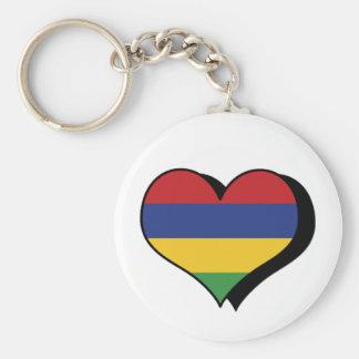 I Love Mauritius Keychain