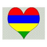 I Love Mauritius Postcard