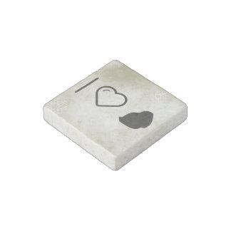 I Love Mauritius Stone Magnet