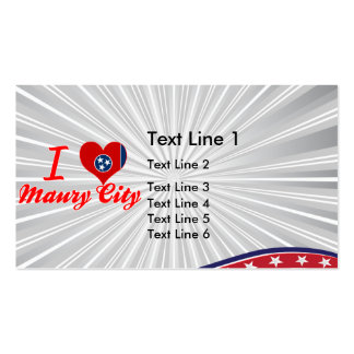 I Love Maury City, Tennessee Double-Sided Standard Business Cards (Pack Of 100)