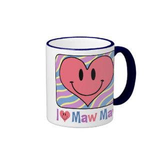 I Love Maw Maw Ringer Coffee Mug