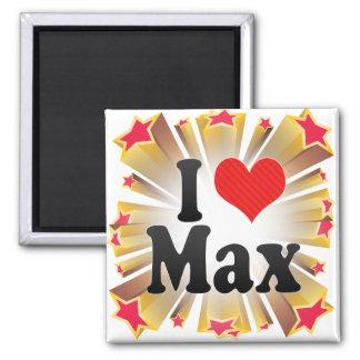 I Love Max 2 Inch Square Magnet