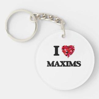 I Love Maxims Single-Sided Round Acrylic Keychain