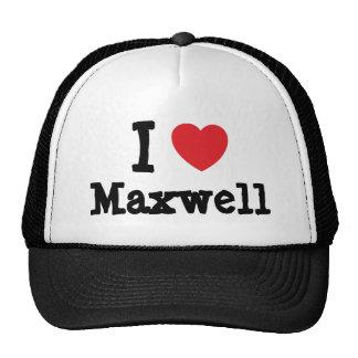 I love Maxwell heart custom personalized Hats