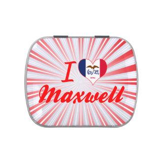 I Love Maxwell Iowa Jelly Belly Tin