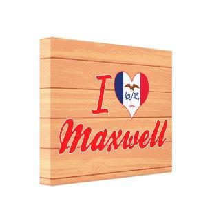 I Love Maxwell Iowa Stretched Canvas Print