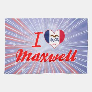 I Love Maxwell Iowa Kitchen Towel