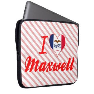 I Love Maxwell Iowa Laptop Sleeve