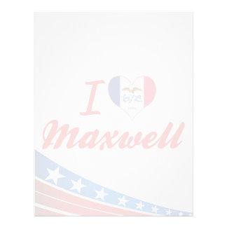 I Love Maxwell Iowa Custom Letterhead