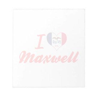 I Love Maxwell Iowa Memo Pad