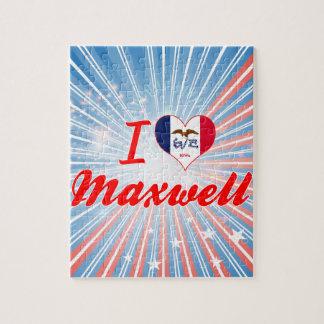 I Love Maxwell Iowa Jigsaw Puzzles