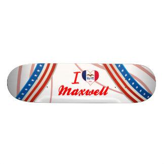 I Love Maxwell Iowa Custom Skate Board
