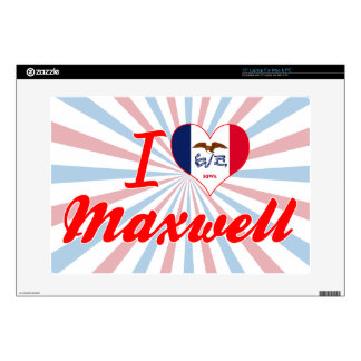 I Love Maxwell Iowa Skins For Laptops
