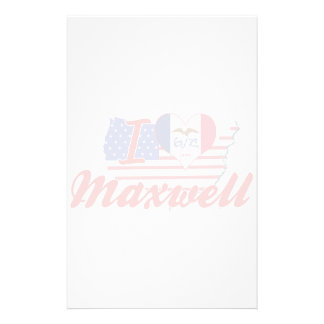 I Love Maxwell Iowa Custom Stationery