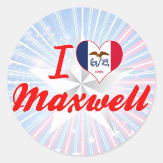 I Love Maxwell Iowa Stickers
