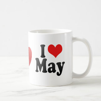 I Love May Classic White Coffee Mug