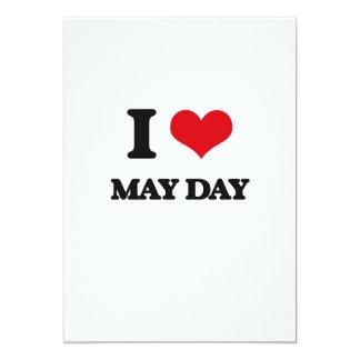 """I Love May Day 5"""" X 7"""" Invitation Card"""