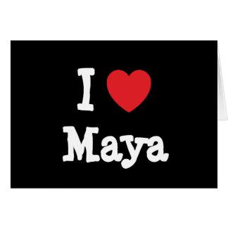 I love Maya heart T-Shirt Greeting Card