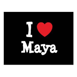I love Maya heart T-Shirt Post Card