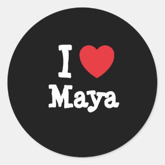I love Maya heart T-Shirt Stickers