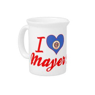 I Love Mayer Minnesota Beverage Pitcher