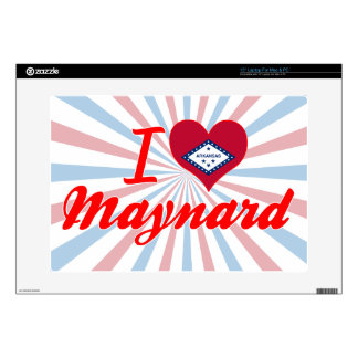 "I Love Maynard, Arkansas Decal For 15"" Laptop"
