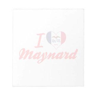 I Love Maynard, Iowa Memo Pad