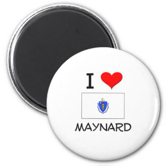 I Love Maynard Massachusetts Magnet