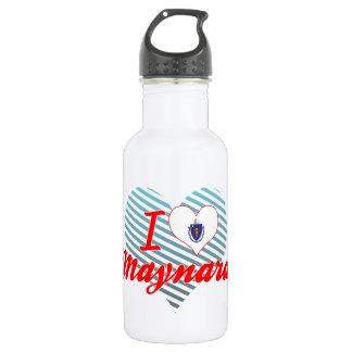 I Love Maynard, Massachusetts 18oz Water Bottle