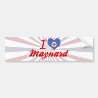 I Love Maynard, Minnesota Bumper Sticker