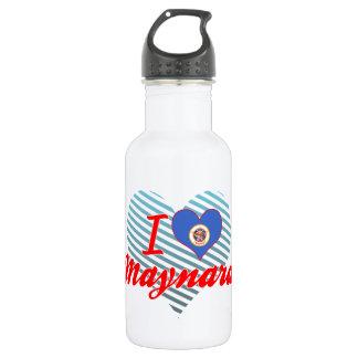 I Love Maynard, Minnesota 18oz Water Bottle