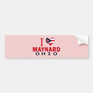 I love Maynard, Ohio Bumper Sticker