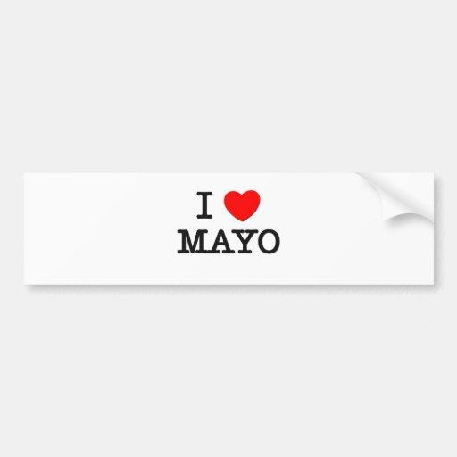 I Love Mayo Car Bumper Sticker