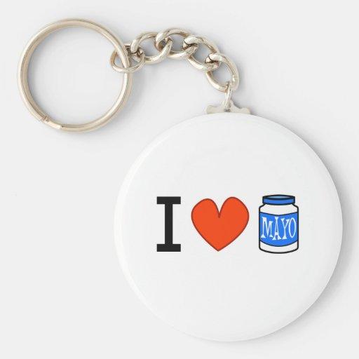 I Love Mayo! Keychains