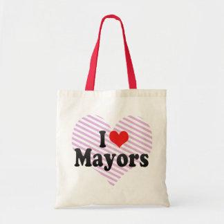 I Love Mayors Canvas Bag