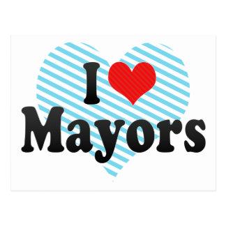 I Love Mayors Postcard
