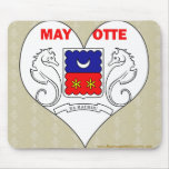 I Love Mayotte Mouse Pads