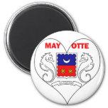 I Love Mayotte Refrigerator Magnets