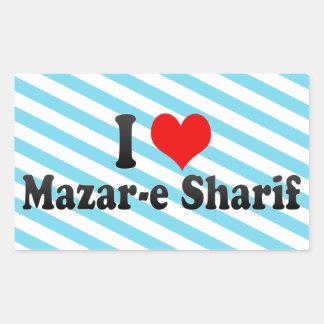 I Love Mazar-e Sharif, Afghanistan Rectangular Sticker