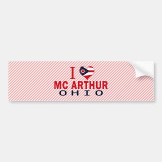 I love Mc Arthur Ohio Bumper Sticker