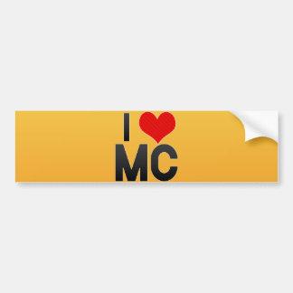 I Love MC Bumper Sticker