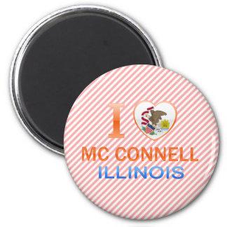 I Love Mc Connell, IL Refrigerator Magnet