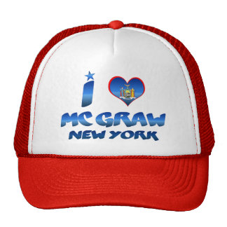 I love Mc Graw, New York Trucker Hat