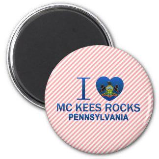 I Love Mc Kees Rocks, PA 2 Inch Round Magnet
