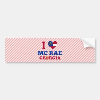 I Love Mc Rae Georgia Bumper Stickers