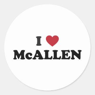 I Love McAllen Texas Classic Round Sticker